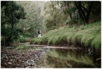 Hunter Valley Winter wedding beside creek